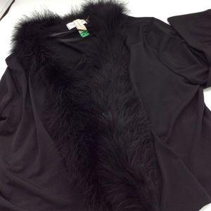 Calvin Klein Fur Collar Jacket XL
